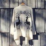 Reindeer Knit Sweater: Alternate View #1