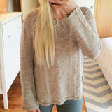 Pine Cone Stitch Sweater: Alternate View #1
