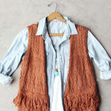 Rusted Romance Sweater Vest: Alternate View #2