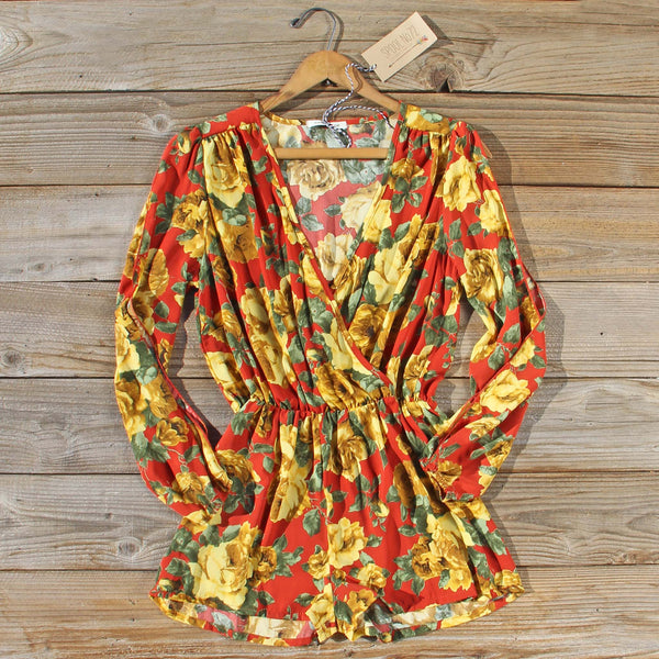 Rusted Rose Fall Romper: Featured Product Image
