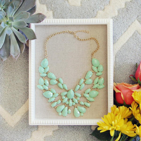 Sacred Stones Necklace in Mint: Featured Product Image