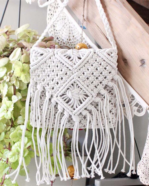 Sadie Macrame Tote: Featured Product Image