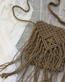Sadie Macrame Tote in Stone: Alternate View #2