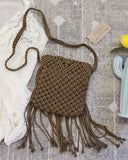 Sadie Macrame Tote in Stone: Alternate View #3