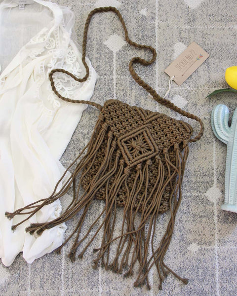 Sadie Macrame Tote in Stone: Featured Product Image
