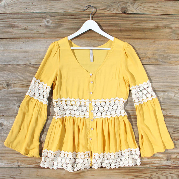 Saffron Boho Blouse: Featured Product Image