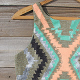 Native Sage Beaded Dress: Alternate View #2