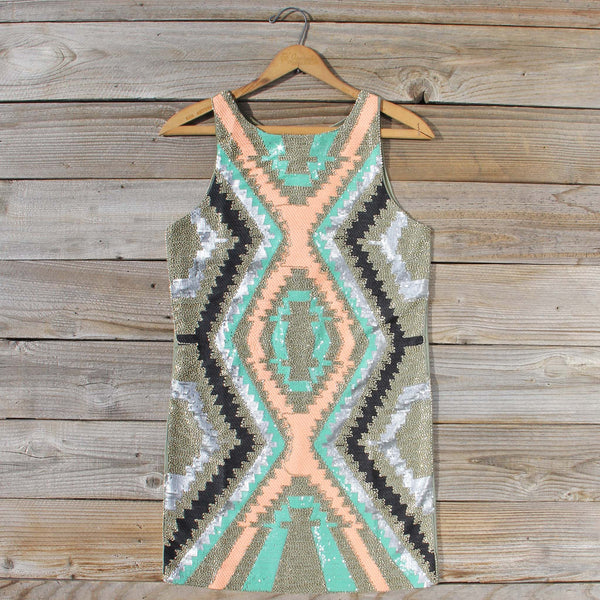 Native Sage Beaded Dress: Featured Product Image