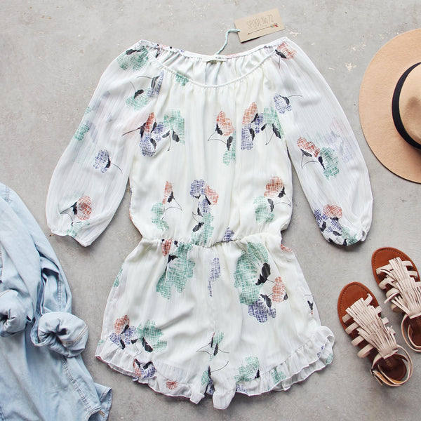 Sage Fox Romper: Featured Product Image