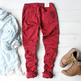 Sage Hills Moto Pants In Burgundy: Alternate View #4