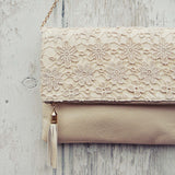 Sage & Lace Tote in Cream: Alternate View #2