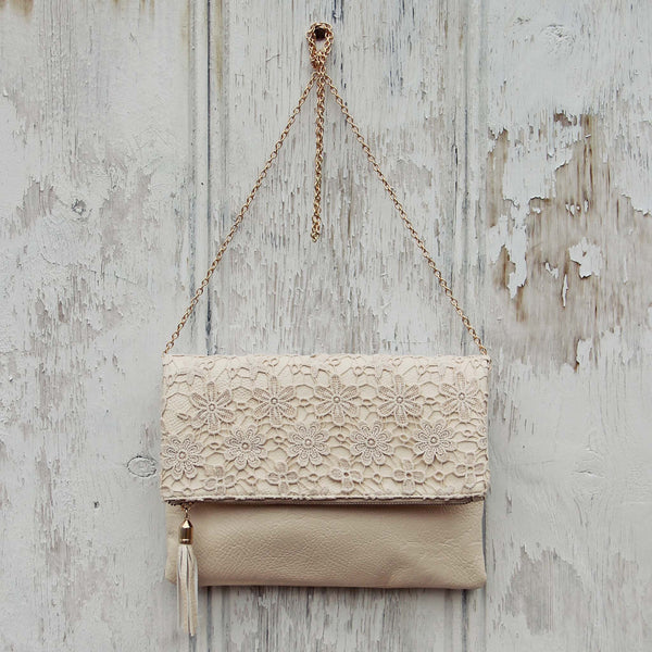 Sage & Lace Tote in Cream: Featured Product Image