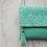 Sage & Lace Tote in Mint: Alternate View #2