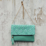 Sage & Lace Tote in Mint: Alternate View #1