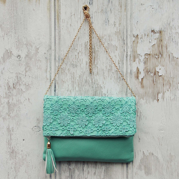 Sage & Lace Tote in Mint: Featured Product Image
