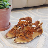 Sageland Fringe Sandals: Alternate View #1