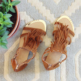 Sageland Fringe Sandals: Alternate View #3