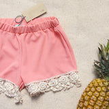 Sand & Lace Shorts: Alternate View #1