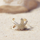 Sand & Starfish Ring: Alternate View #1