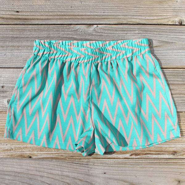 Sand Dancer Shorts in Green: Featured Product Image