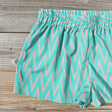 Sand Dancer Shorts in Green: Alternate View #2