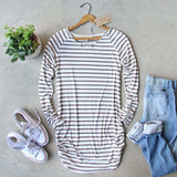 Sand Stripes Tunic Tee: Alternate View #1