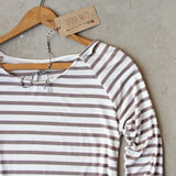 Sand Stripes Tunic Tee: Alternate View #2
