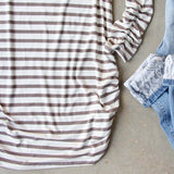 Sand Stripes Tunic Tee: Alternate View #3