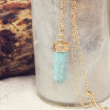 Sands of Time Necklace in Turquoise: Alternate View #2