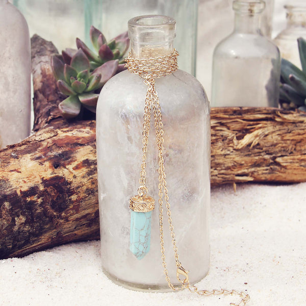 Sands of Time Necklace in Turquoise: Featured Product Image