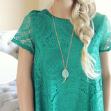 The Santa Clara Lace Dress in Green: Alternate View #4