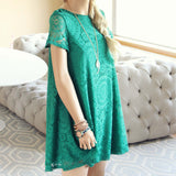 The Santa Clara Lace Dress in Green: Alternate View #3