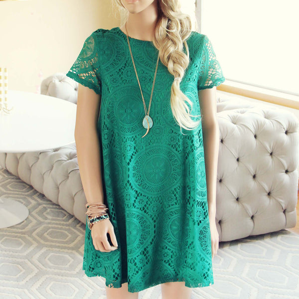 The Santa Clara Lace Dress in Green: Featured Product Image