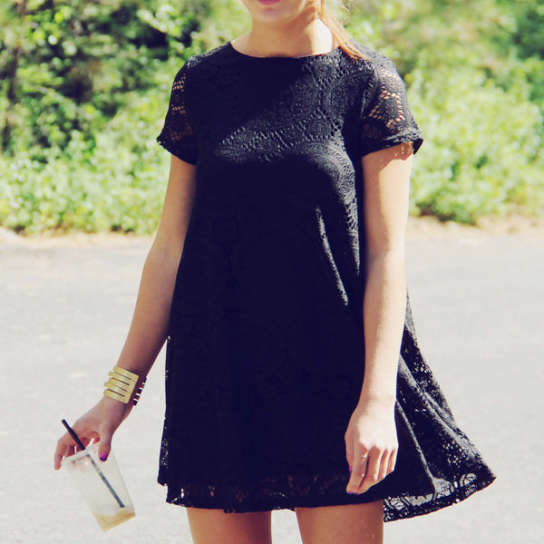 The Santa Clara Lace Dress in Black: Featured Product Image