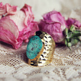 Santa Fe Turquoise Ring: Alternate View #1