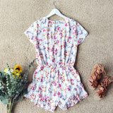 Sapphire Flower Romper: Alternate View #4