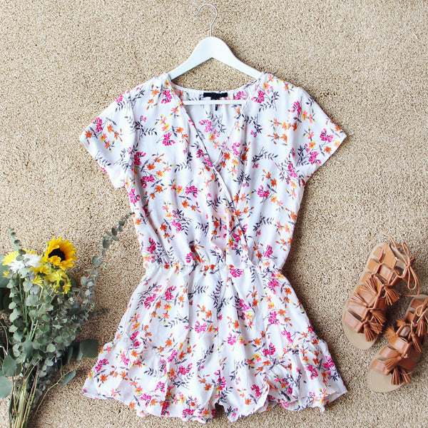 Sapphire Flower Romper: Featured Product Image