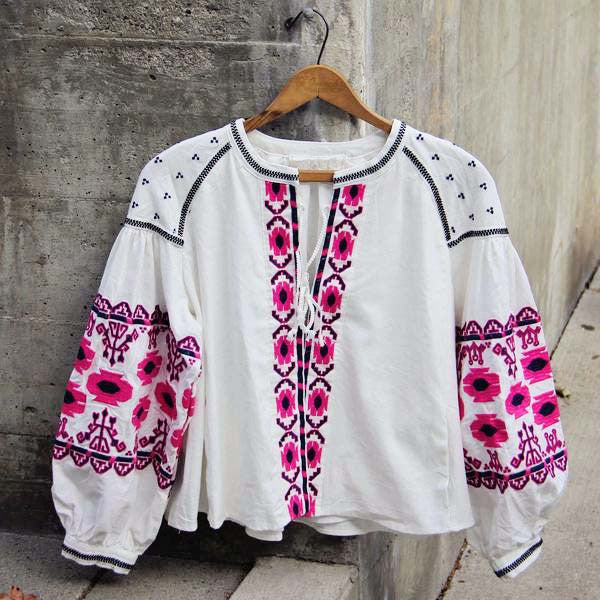 Saskatoon Boho Jacket in White: Featured Product Image