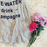 """Drink Champagne"" Tank: Alternate View #3"