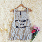 """Drink Champagne"" Tank: Alternate View #1"