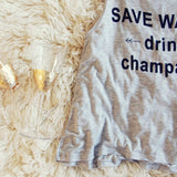 """Drink Champagne"" Tank: Alternate View #2"