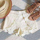 Scalloped Lace Shorts: Alternate View #1