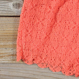 Sea Lace Romper in Coral: Alternate View #3