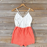 Sea Lace Romper in Coral: Alternate View #4