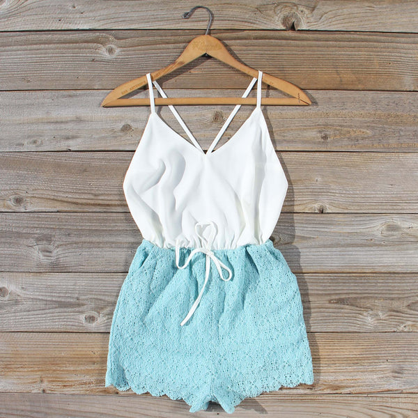Sea Lace Romper in Sky: Featured Product Image