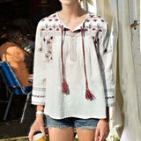 Sedum Embroidered Blouse (wholesale): Alternate View #1
