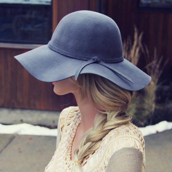 The Sedona Floppy Hat in Gray: Featured Product Image
