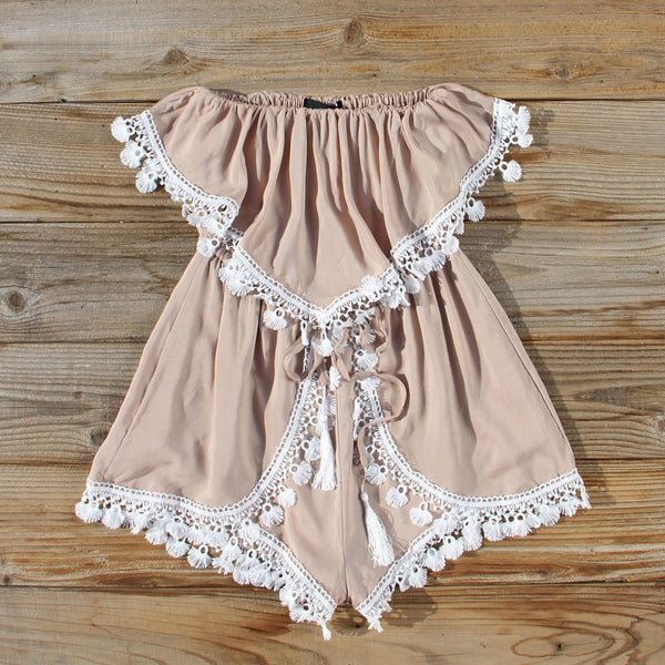 Sonora Lace Romper: Featured Product Image