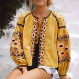 Saskatoon Boho Jacket in Mustard (wholesale): Alternate View #1