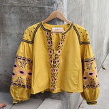 Saskatoon Boho Jacket in Mustard (wholesale): Alternate View #3